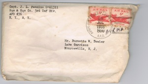 mail envelope 1958