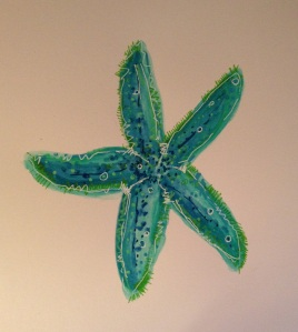 Blue and Green Sea Star