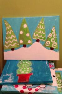 Whimsical Tree - i can add your name to the snow. Uv protected to hang on the front door  .